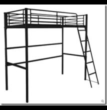 Magas fém ágykeret, ágyráccsal, fekete - Bútorok Webshop