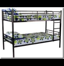 Emeletes ágy, ágyráccsal, fekete - Bútorok Webshop