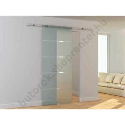 Üveg tolóajtó, savmart csíkozott, TS 120 - Bútorok Webshop