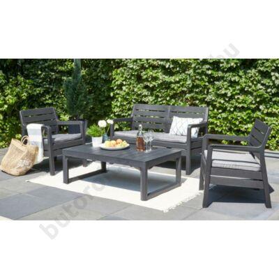 7ab39e27e20d DELANO 6 személyes kerti ülőgarnitúra, szürke - Műrattan és műanyag ...