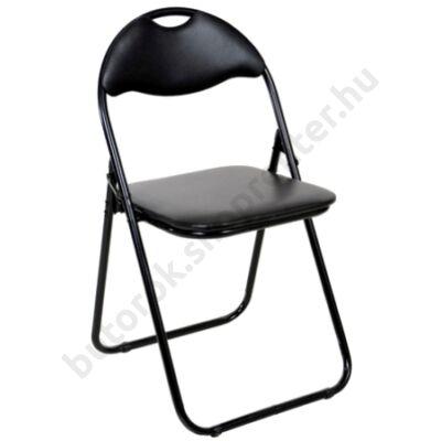 Cordoba összecsukható szék, fekete - Bútorok Webshop
