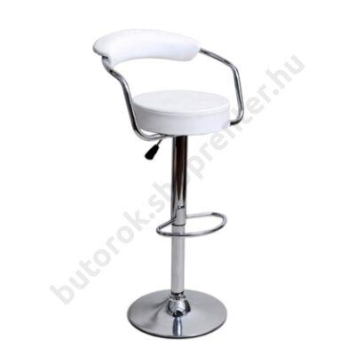 Sandra bárszék, fehér - Bútorok Webshop
