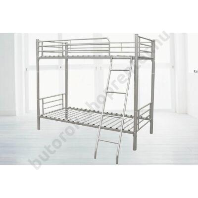 Emeletes ágy, ágyráccsal, ezüst - Bútorok Webshop