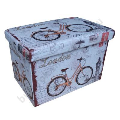Design tárolós ülőke, 48x32, Bicycle - Bútorok Webshop