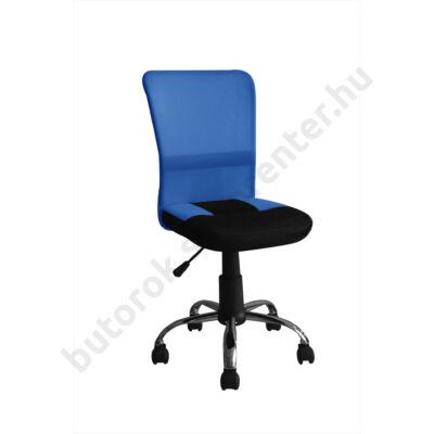Pavo mesh irodai forgószék, US 58, fekete-kék - Bútorok Webshop