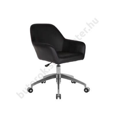 Retró forgó fotel, US 63, fekete - Bútorok Webshop