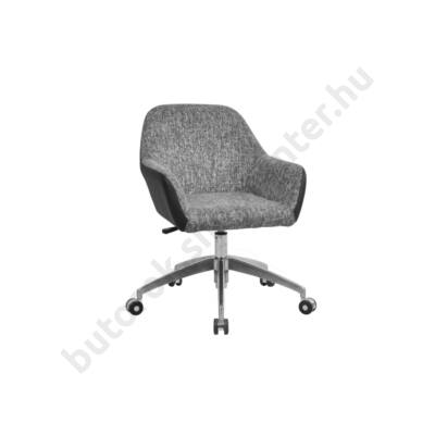 Retró forgó fotel, US 63, szürke - Bútorok Webshop