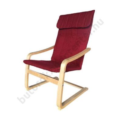 Relax fotel, bordó