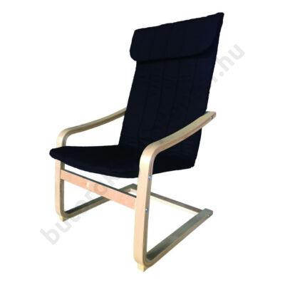 Relax fotel, fekete