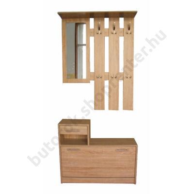 Filio tükrös előszobafal, fehér tölgy - Bútorok Webshop