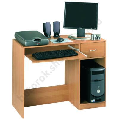 Polygone számítógépasztal, bükk - Bútorok Webshop