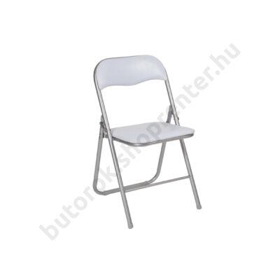Lorca összecsukható szék, fehér - Bútorok Webshop