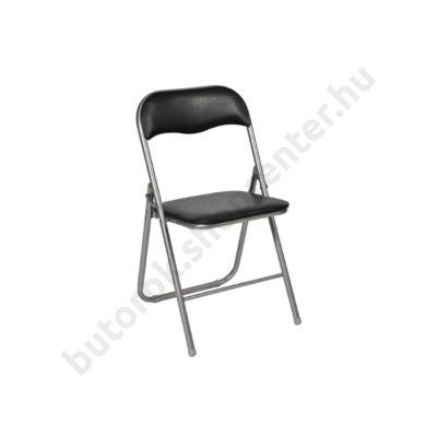 Lorca összecsukható szék, fekete - Bútorok Webshop