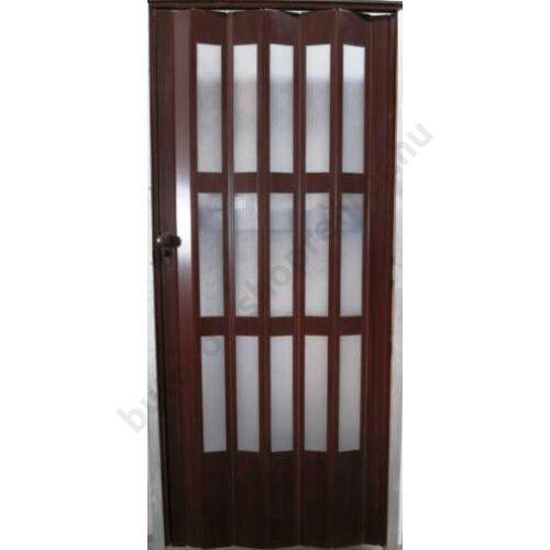 Üvegkazettás harmónika ajtó dió - Bútorok Webshop