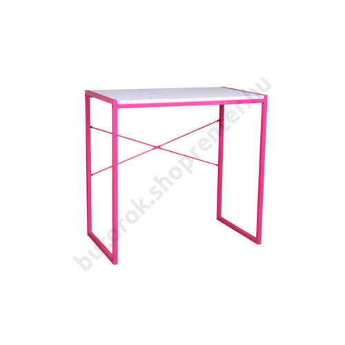 Ifjúsági számítógépasztal, fehér-rózsaszín - Bútorok Webshop