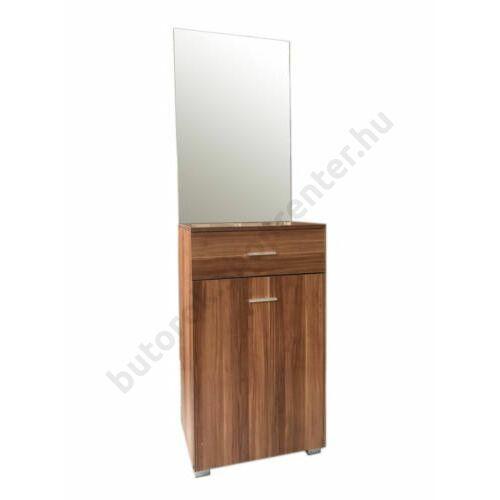 Demi előszoba szekrény tükörrel, sötét tölgy - Bútorok Webshop