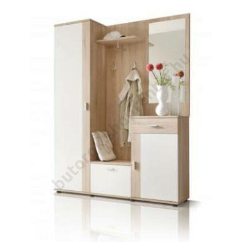 Dézi előszobabútor szett, fehér-fehérített tölgy - Bútorok Webshop
